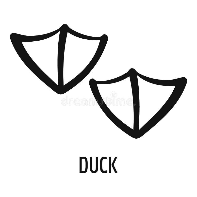 Icono del paso del pato, estilo simple ilustración del vector