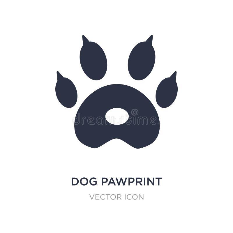 icono del pawprint del perro en el fondo blanco Ejemplo simple del elemento del concepto de la caridad ilustración del vector