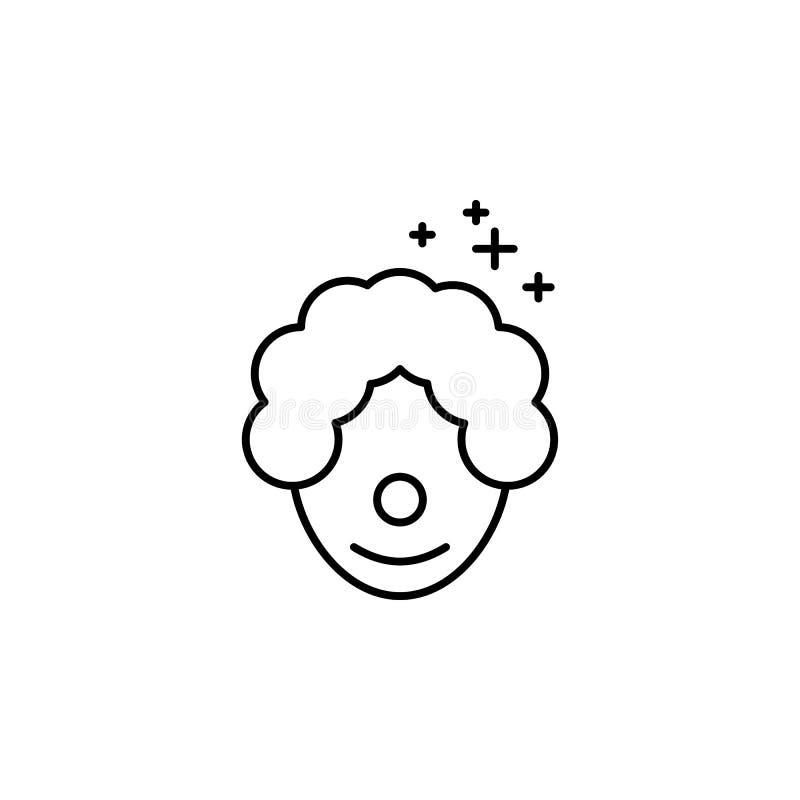 Icono del payaso Elemento del icono oarty del esquema del Año Nuevo Línea fina icono para el diseño y el desarrollo, desarrollo d stock de ilustración
