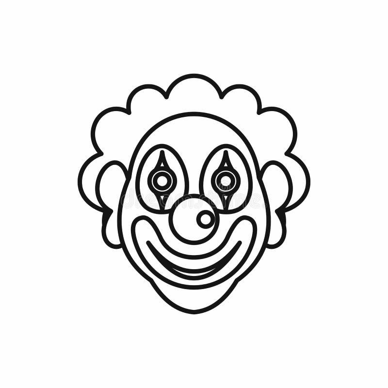 Icono del payaso en estilo del esquema stock de ilustración