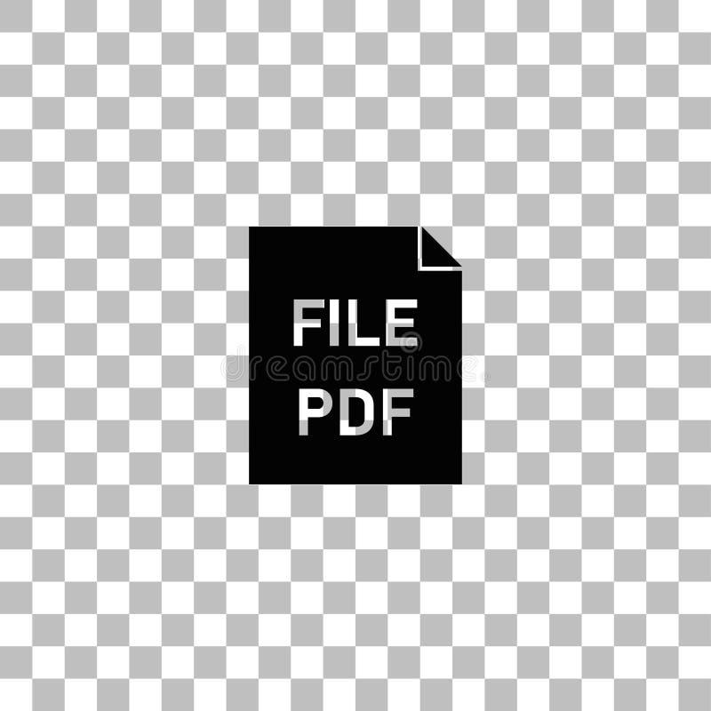 Icono del pdf plano ilustración del vector