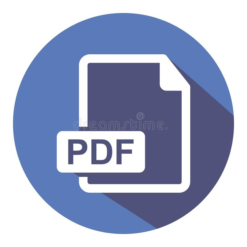 Icono del pdf Transfiere el documento del pdf Icono coloreado vector libre illustration