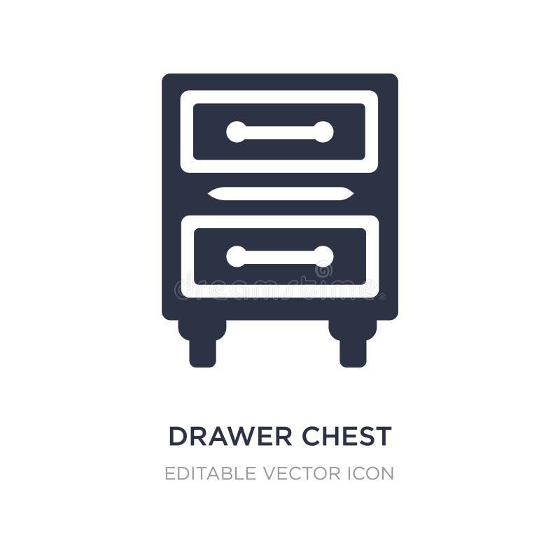 icono del pecho del cajón en el fondo blanco Ejemplo simple del elemento del concepto de los muebles y del hogar ilustración del vector