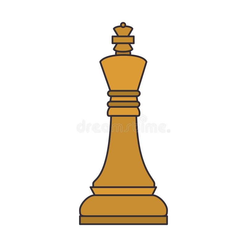 icono del pedazo del juego de ajedrez stock de ilustración