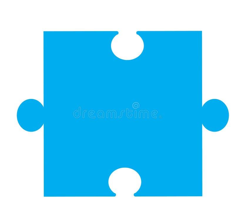 Icono del pedazo del rompecabezas en el fondo blanco ilustración del vector
