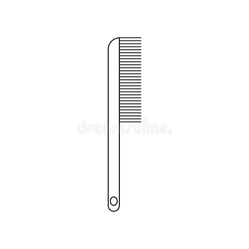 Icono del peine Elemento del peluquero para el concepto y el icono m?viles de los apps de la web Esquema, l?nea fina icono para e stock de ilustración