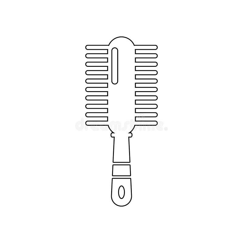 Icono del peine Elemento del peluquero para el concepto y el icono m?viles de los apps de la web Esquema, l?nea fina icono para e libre illustration