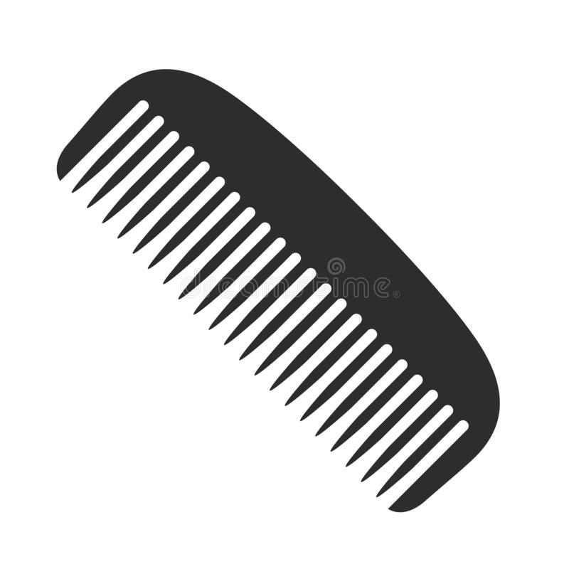 Icono del peine stock de ilustración