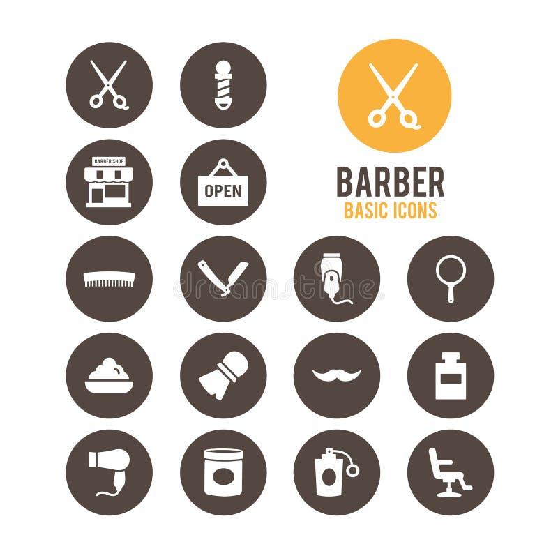 Icono del peluquero Ilustración del vector ilustración del vector