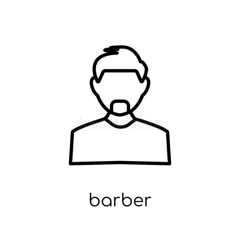 Icono del peluquero Icono linear plano moderno de moda del peluquero del vector en whi ilustración del vector