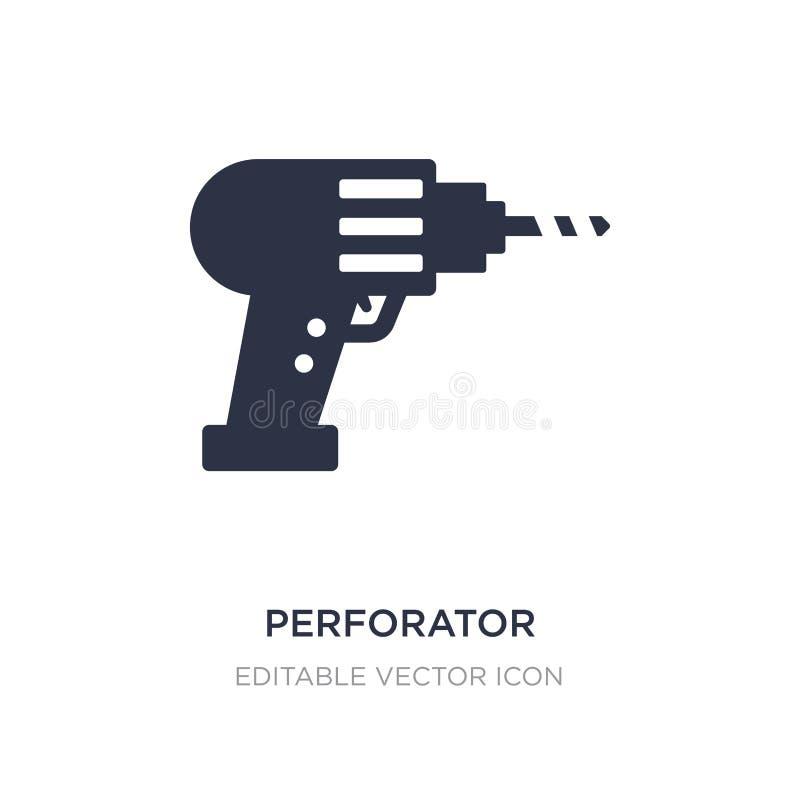 icono del perforador en el fondo blanco Ejemplo simple del elemento del concepto general libre illustration