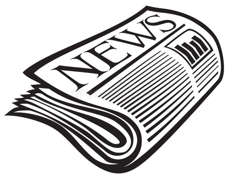 Icono del periódico del vector stock de ilustración