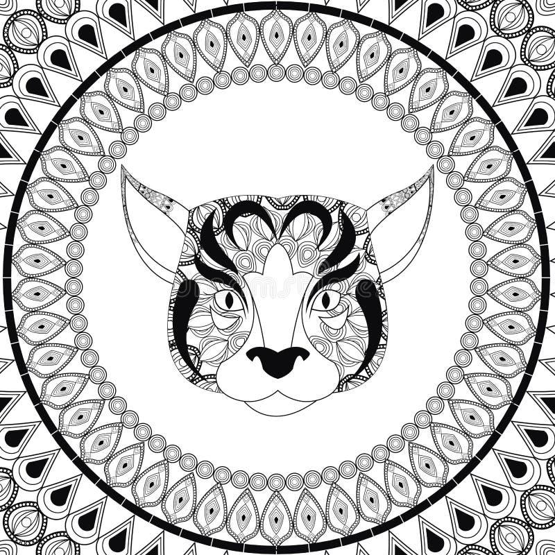 Icono del perro Animal y diseño despredador ornamental Gráfico de vector libre illustration