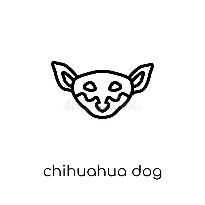 Icono del perro de la chihuahua  ilustración del vector