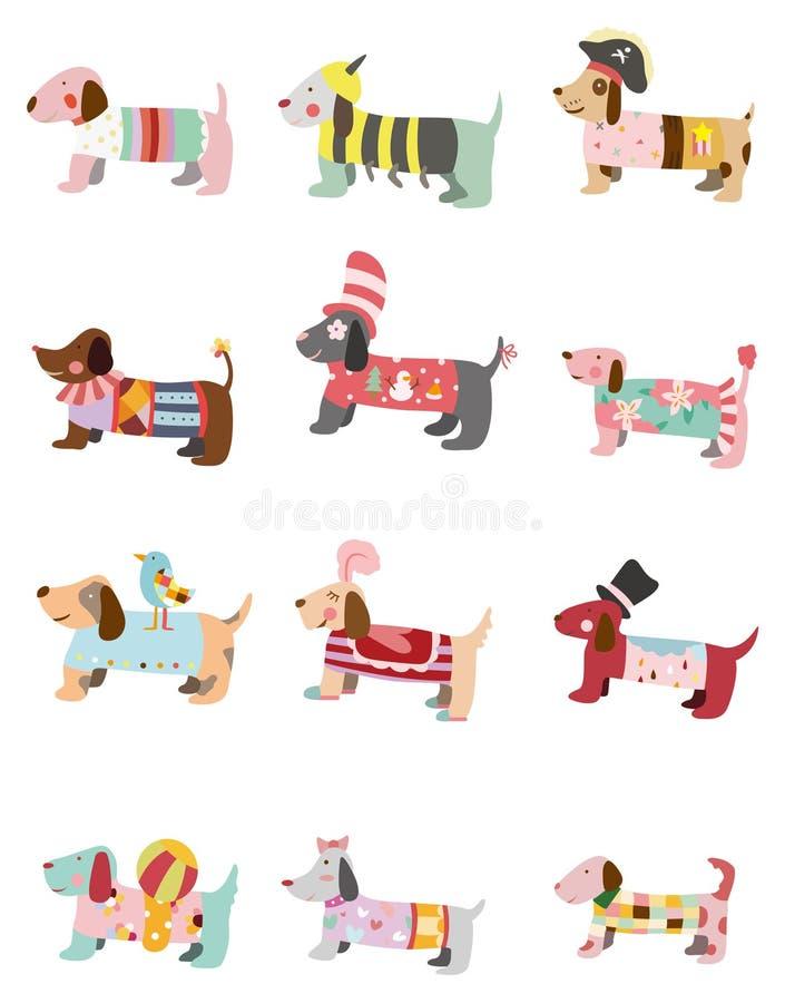 Icono del perro de la historieta stock de ilustración