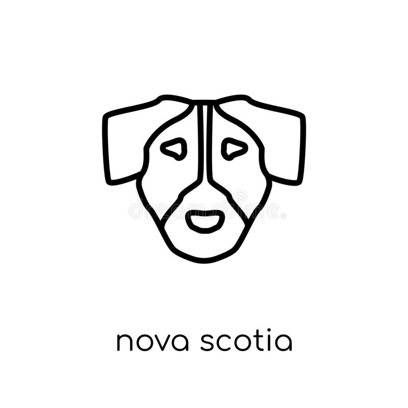 Icono del perro de Nova Scotia Duck Tolling Retriever Plano moderno de moda libre illustration