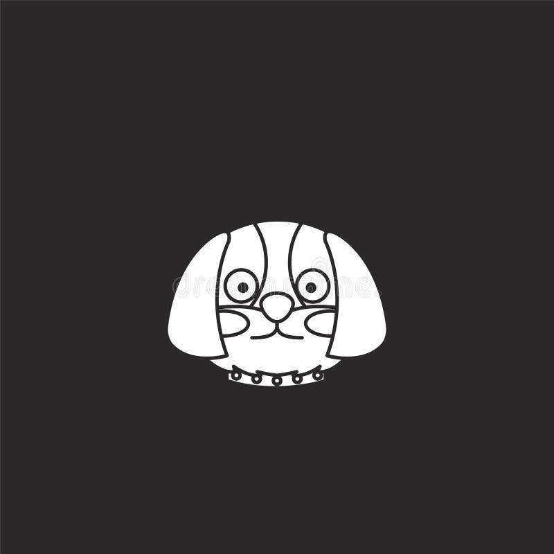 Icono del perro Icono llenado del perro para el diseño y el móvil, desarrollo de la página web del app el icono del perro de la c libre illustration