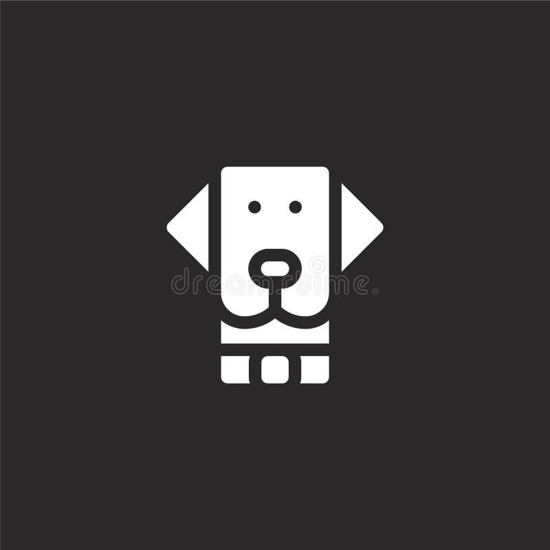 Icono del perro Icono llenado del perro para el diseño y el móvil, desarrollo de la página web del app icono del perro de la cole stock de ilustración
