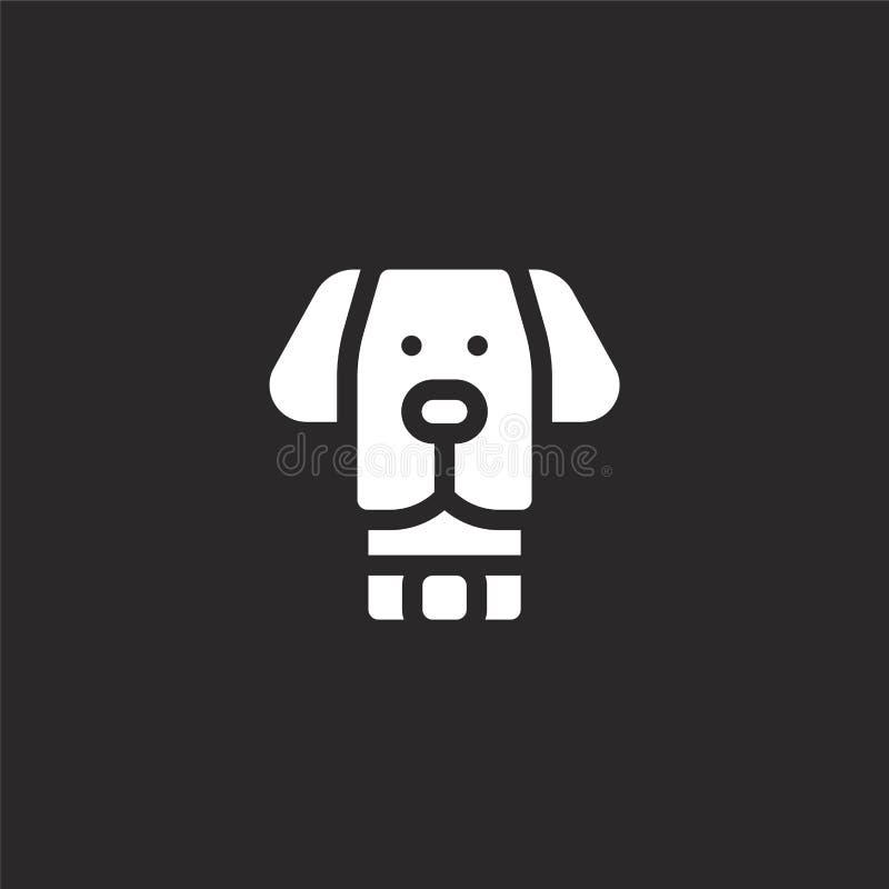 Icono del perro Icono llenado del perro para el diseño y el móvil, desarrollo de la página web del app icono del perro de la cole ilustración del vector