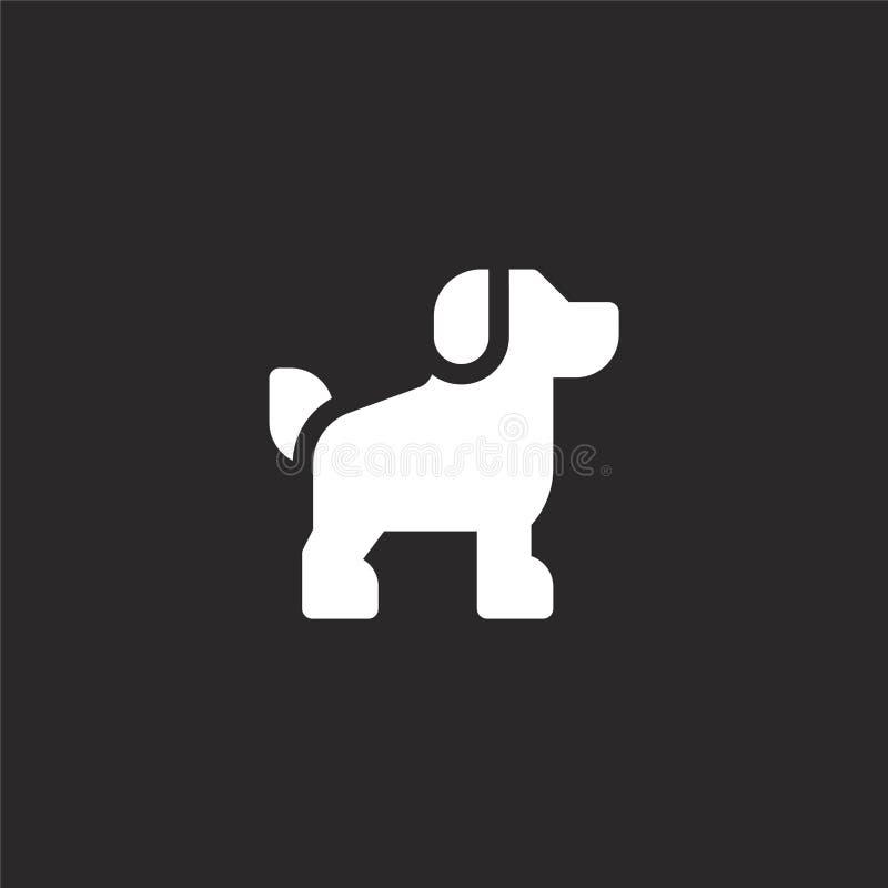 Icono del perro Icono llenado del perro para el diseño y el móvil, desarrollo de la página web del app icono del perro de la cole libre illustration