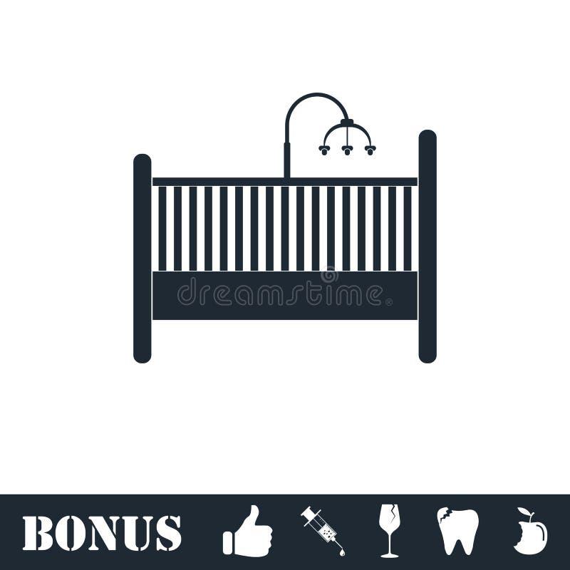 Icono del pesebre del beb? completamente libre illustration