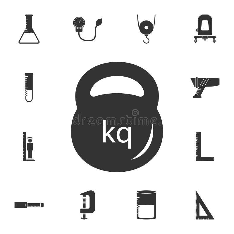 Icono del peso Ejemplo simple del elemento diseño del símbolo del peso del sistema de medición de la colección Puede ser utilizad libre illustration