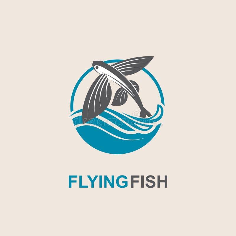 Icono del pez volador libre illustration