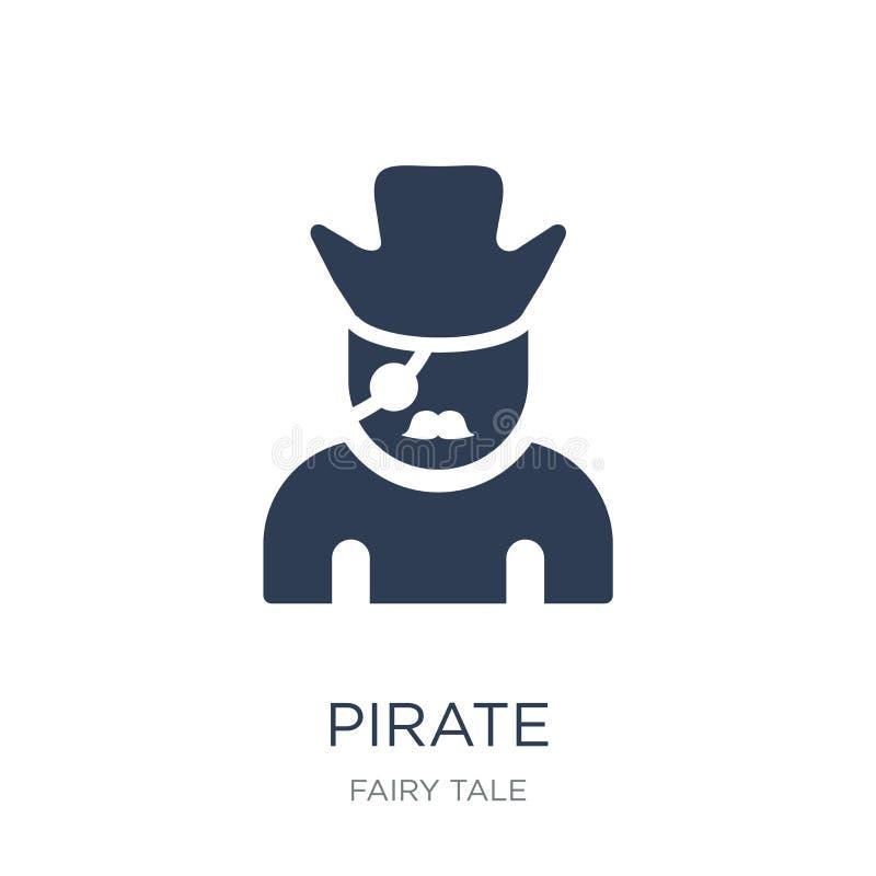 Icono del pirata  stock de ilustración