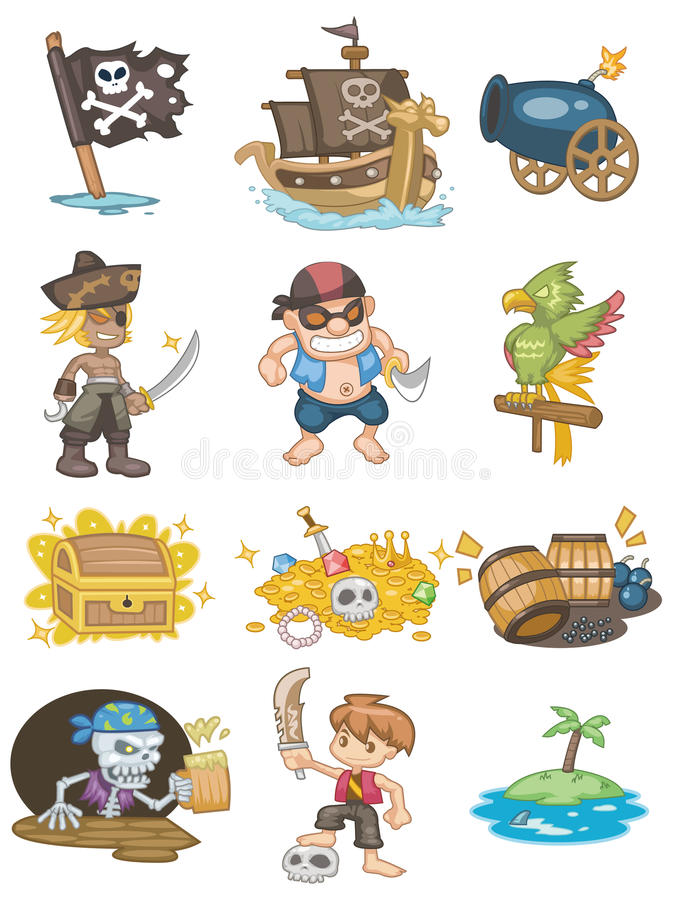 Icono del pirata de la historieta libre illustration