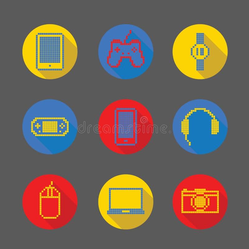 Icono del pixel del artilugio fotos de archivo libres de regalías