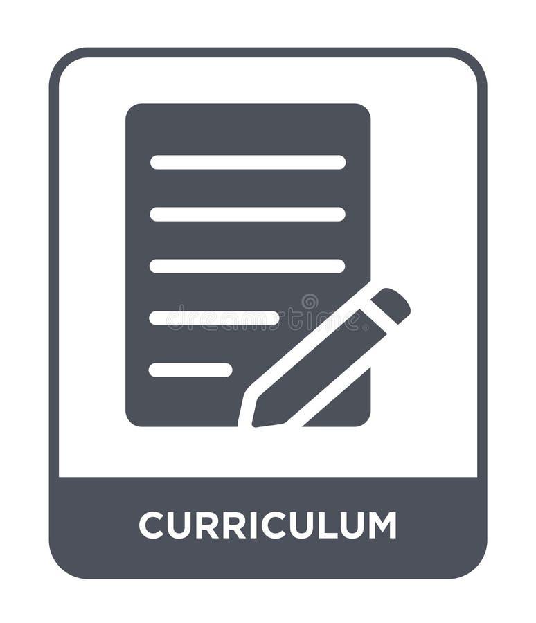 icono del plan de estudios en estilo de moda del diseño Icono del plan de estudios aislado en el fondo blanco icono del vector de libre illustration