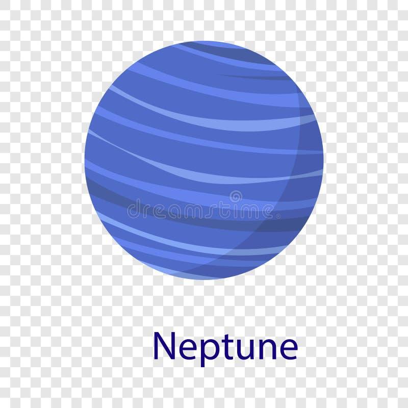 Icono del planeta de Neptuno, estilo plano libre illustration