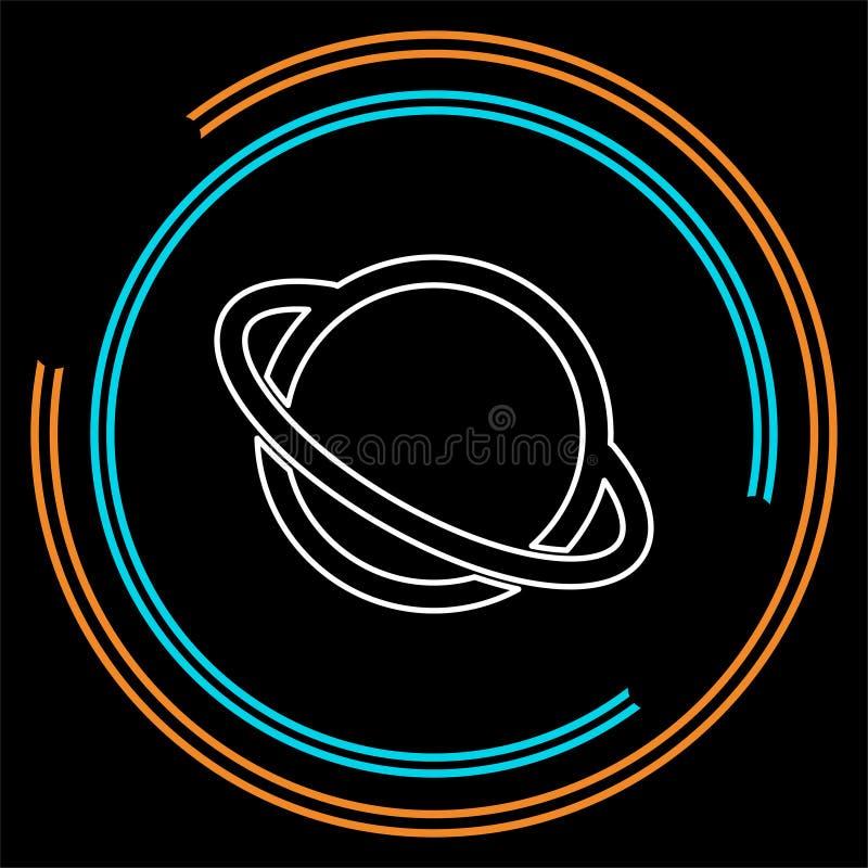 Icono del planeta de Saturno del vector ilustración del vector