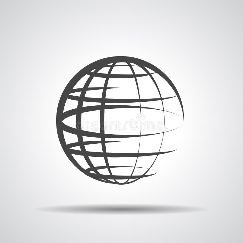 Icono del planeta del globo stock de ilustración