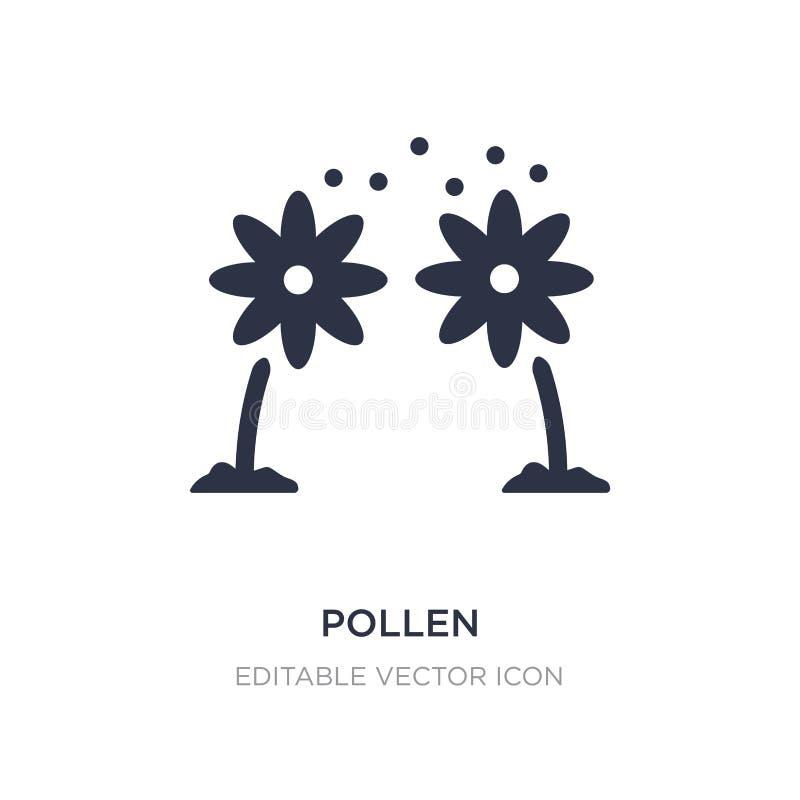 icono del polen en el fondo blanco Ejemplo simple del elemento del concepto de la naturaleza stock de ilustración