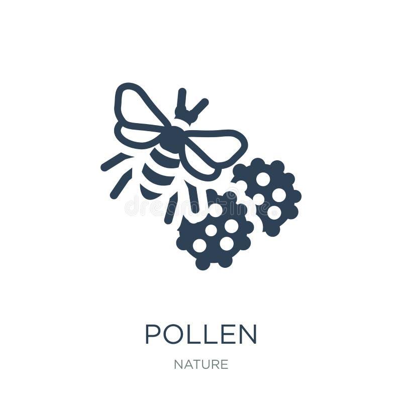 icono del polen en estilo de moda del diseño icono del polen aislado en el fondo blanco símbolo plano simple y moderno del icono  ilustración del vector
