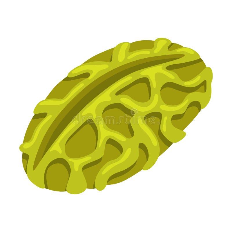 Icono del polen Huella digital ilustración del vector