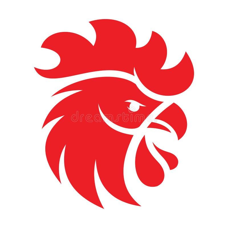 Icono del pollo Arte del icono del pollo Icono Eps8, imagen del pollo del icono del pollo Eps10 Logotipo del icono del pollo Mues imagenes de archivo