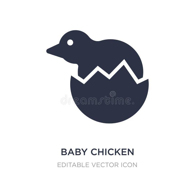 icono del pollo del bebé en el fondo blanco Ejemplo simple del elemento del concepto de los animales libre illustration