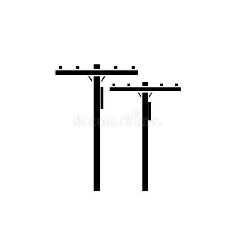 Icono del polo de poder stock de ilustración
