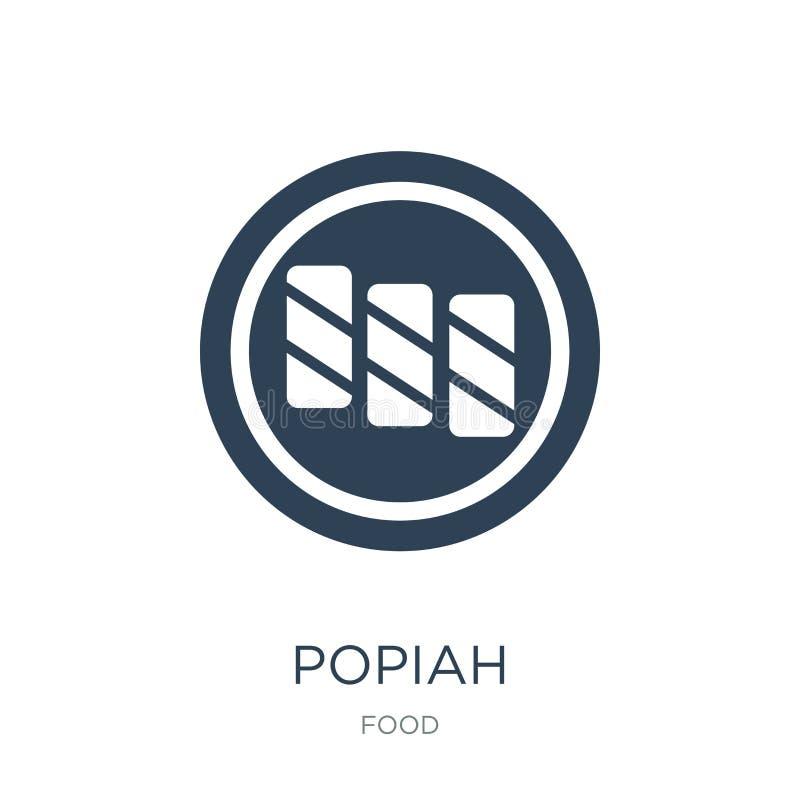 icono del popiah en estilo de moda del diseño icono del popiah aislado en el fondo blanco símbolo plano simple y moderno del icon ilustración del vector