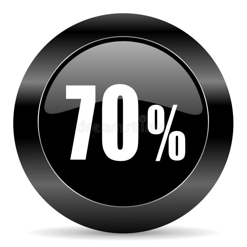 icono del 70 por ciento ilustración del vector