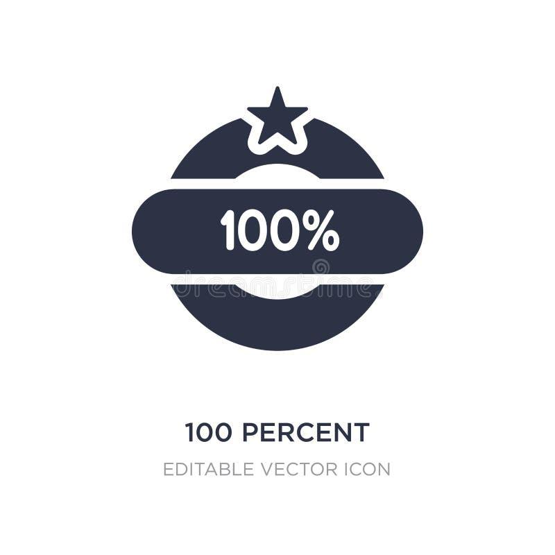 icono del 100 por ciento en el fondo blanco Ejemplo simple del elemento del concepto diverso stock de ilustración