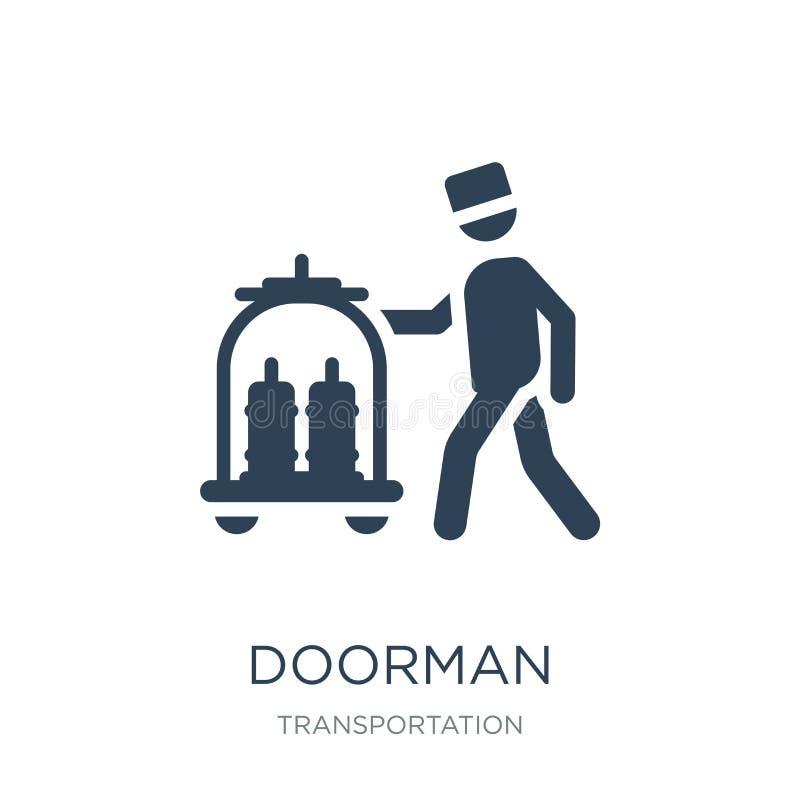 icono del portero en estilo de moda del diseño icono del portero aislado en el fondo blanco símbolo plano simple y moderno del ic ilustración del vector