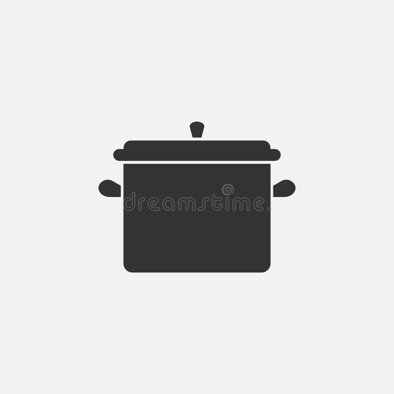 Icono del pote, cocinero, artículos de cocina, comida, sopa libre illustration