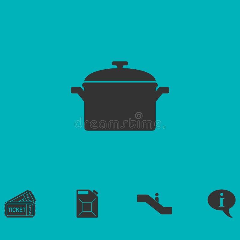 Icono del pote plano stock de ilustración
