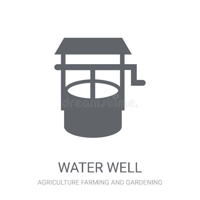 Icono del pozo de agua  stock de ilustración