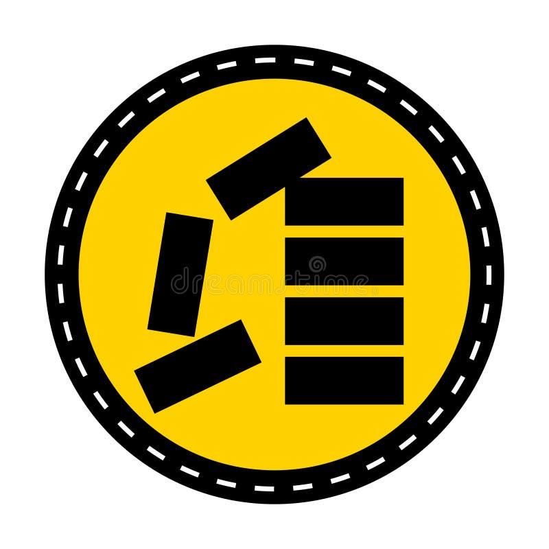 Icono del PPE Apile correctamente el aislante de la muestra del símbolo en el fondo blanco, ejemplo del vector ilustración del vector