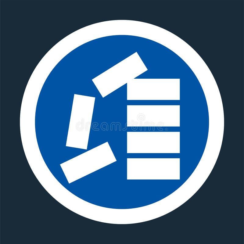 Icono del PPE Apile correctamente la muestra del símbolo en fondo negro en el fondo negro, llustration del vector stock de ilustración