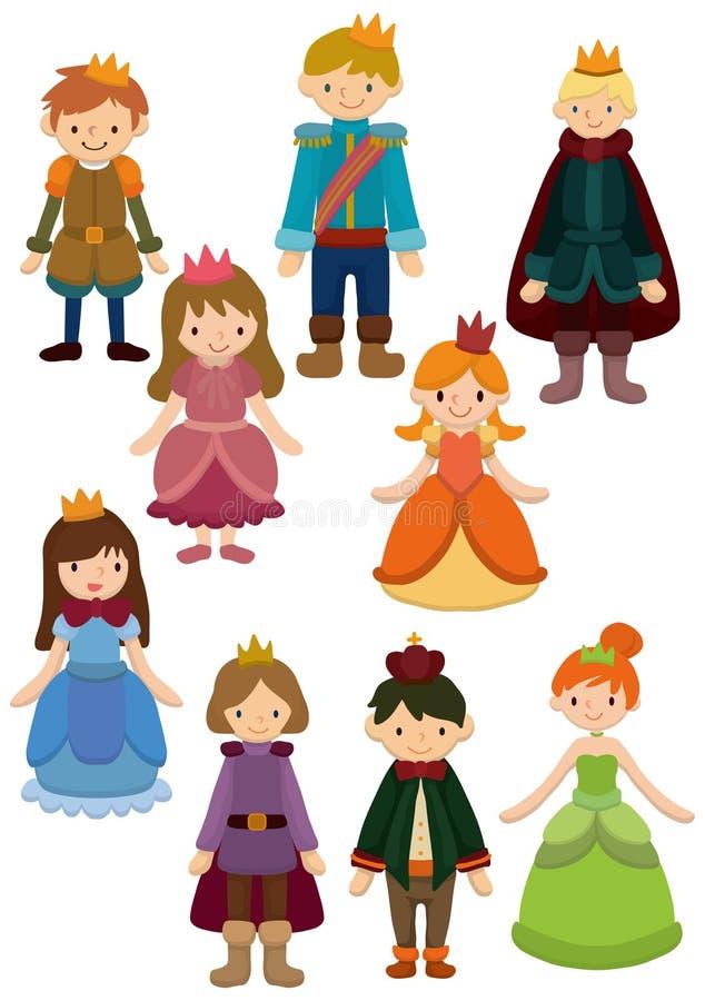 Icono del príncipe y de la princesa de la historieta libre illustration